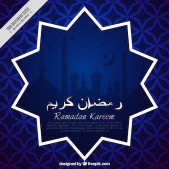 Blue abstract ramadan background