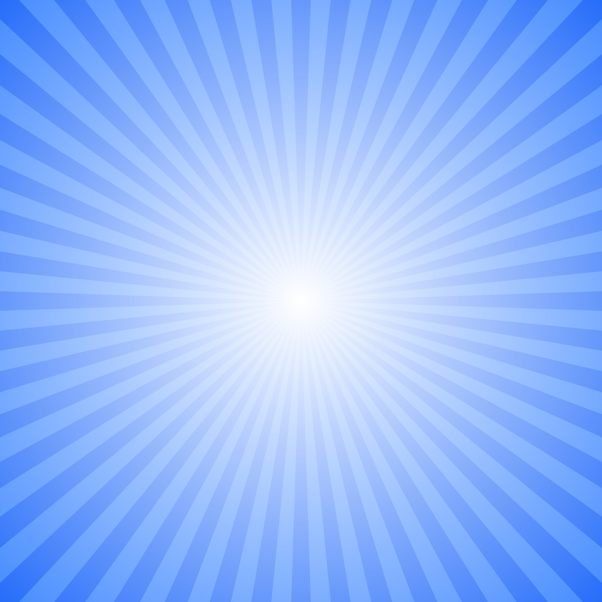 Blue abstract ray burst background - motion vector graphic design from striped rays