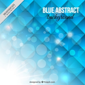 Синий абстрактный блестящий фон