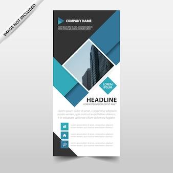 青、抽象的な、正方形、ビジネス、ロールアップ、バナー、フラット、デザイン、テンプレート