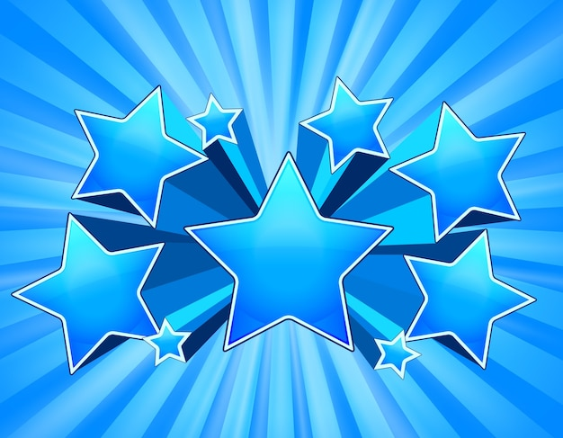 Blue abstract stars