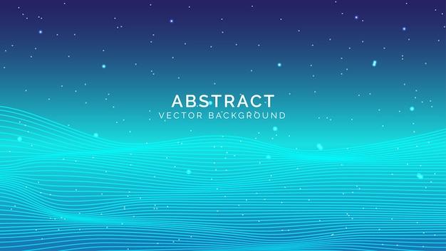 青い抽象的な技術の背景
