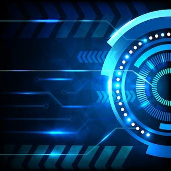 青い抽象的な技術の背景。