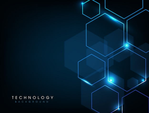 Blue abstract technology digital background