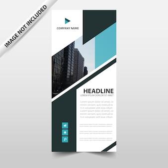 青、抽象的な、三角形、ビジネス、ロールアップ、バナー、フラット、デザイン、テンプレート