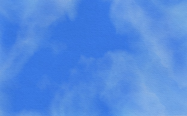 青の抽象的な水彩背景デザイン