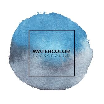 テクスチャ背景の青の抽象的な水彩画の背景