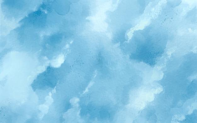 Синий абстрактный фон пятна акварели