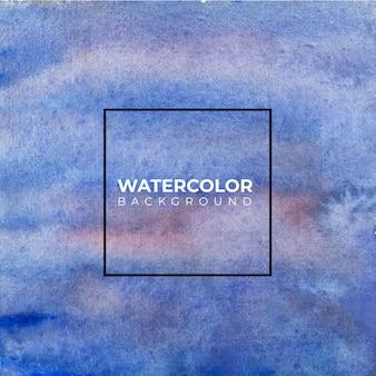 青の抽象的な水彩テクスチャ背景