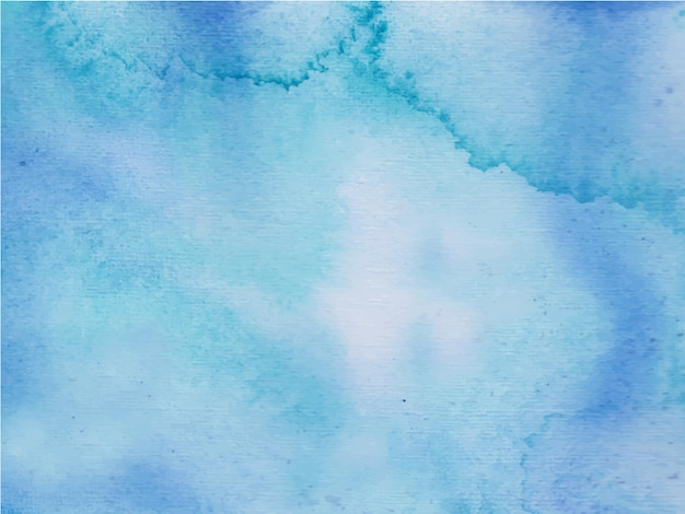 블루 추상 수채화