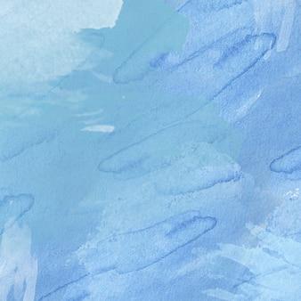 Синий абстрактный фон акварелью