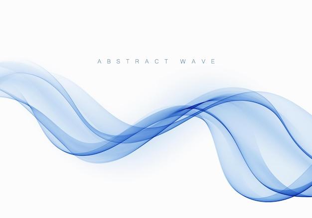 Голубая абстрактная волна. абстрактные векторные фоновой волны