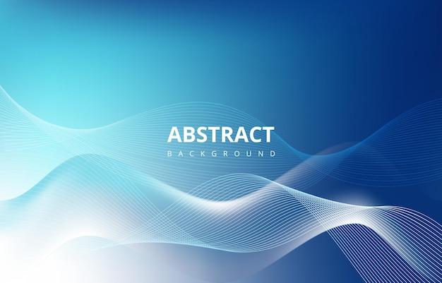 Синий абстрактные волны линии градиент текстуры фона обои графический дизайн