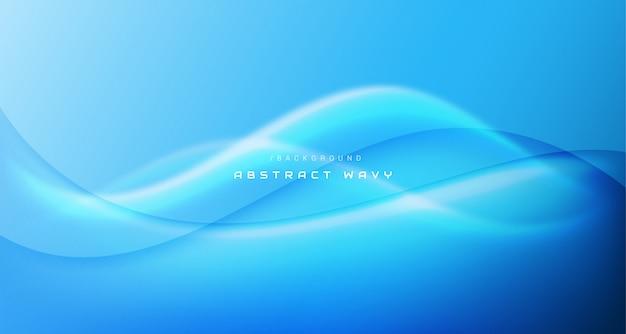 Синий абстрактный волнистый современный фон