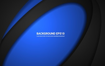 Blue and black abstract line curve element background.
