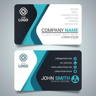 Дизайн шаблона визитной карточки blue and black.