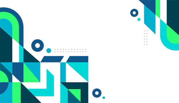 파란색과 녹색 기하학적 배경 벡터