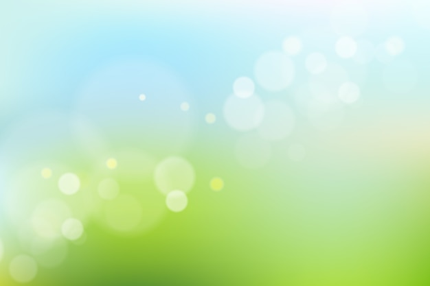 Bokeh 효과와 파란색과 녹색 그라데이션 배경