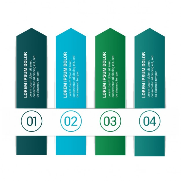 Blue and green infographics