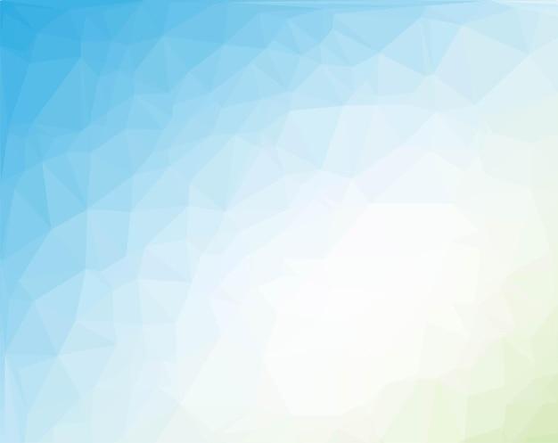 Синий и зеленый полигональный фон