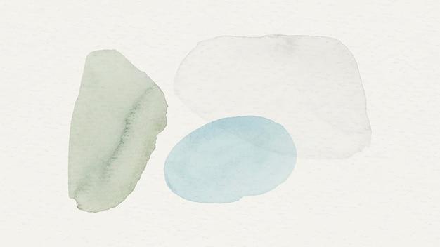 파란색과 녹색 수채화 무늬 배경