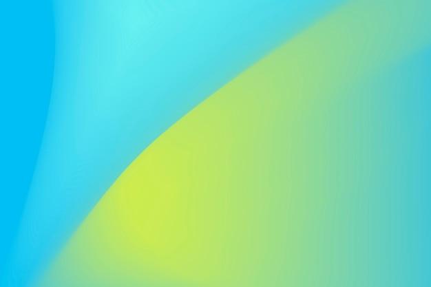 파란색과 녹색 물결 그라데이션 배경 벡터
