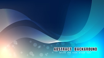 Blue and light abstract background