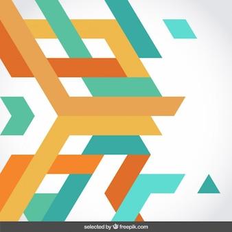 Синий и оранжевые полосы