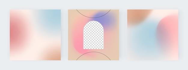 소셜 미디어 배너에 대한 파란색과 분홍색 그라데이션 배경