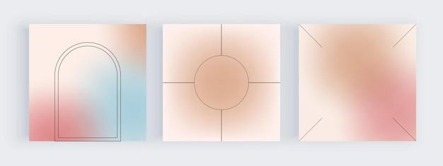소셜 미디어 배너에 대한 파란색과 분홍색 그라데이션 배경 프리미엄 벡터