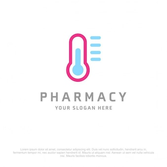 Blue and pink pharmacy logo