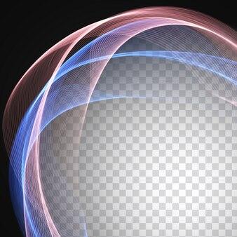 透明な背景に抽象的なカラフルな波のデザイン