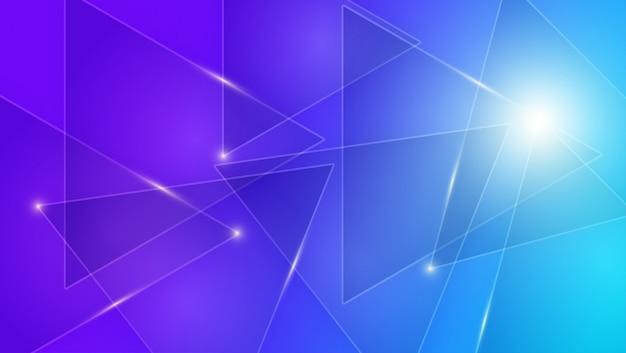 明るい線で青と紫の背景