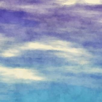 Синий и фиолетовый фон акварель
