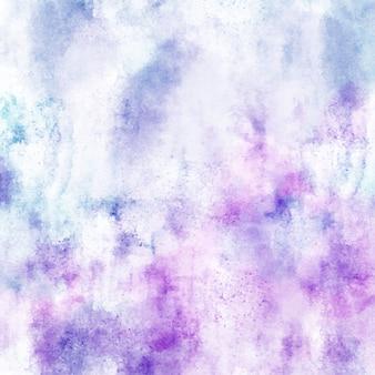 파란색과 보라색 젖은 수채화 질감 배경, 예술 벡터 배경 화가