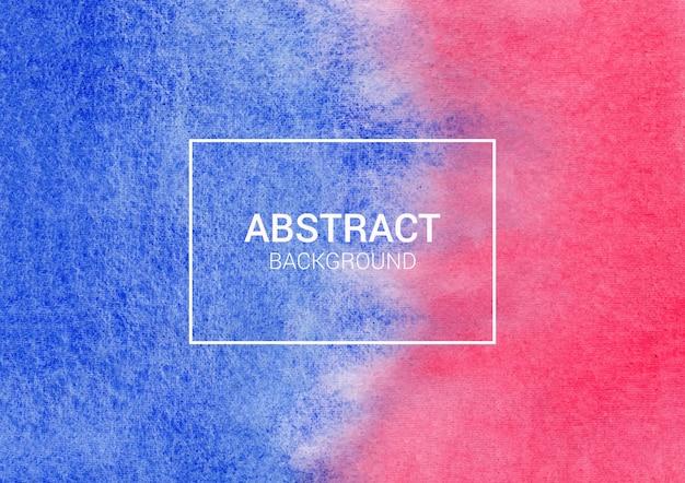 青と赤の抽象的な水彩画の背景デザイン