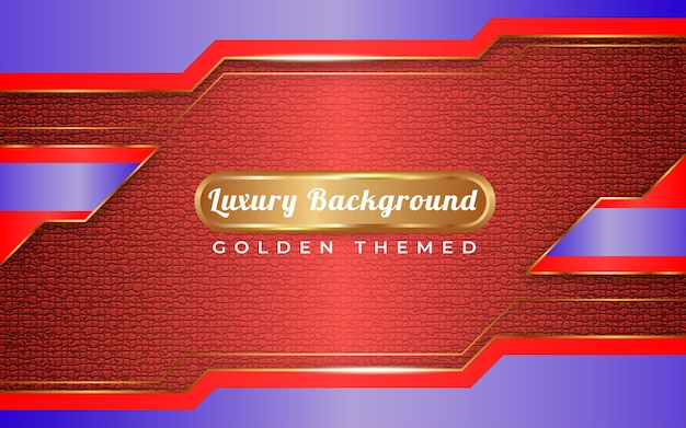青と赤の背景ゴールデンスタイル