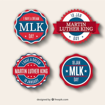 Blue and red stickers for martin luther king day
