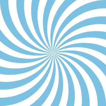 青と白の抽象的ならせん状の背景。