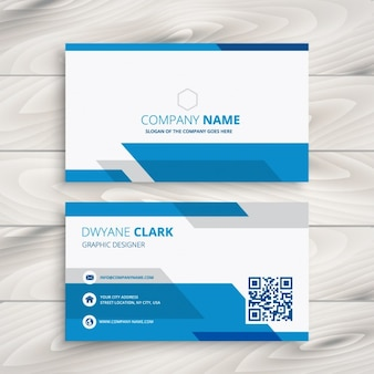 Blue and white corporate business card