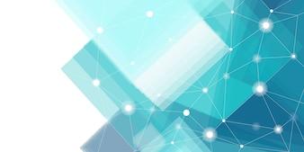 青と白の未来的な技術の背景のベクトル