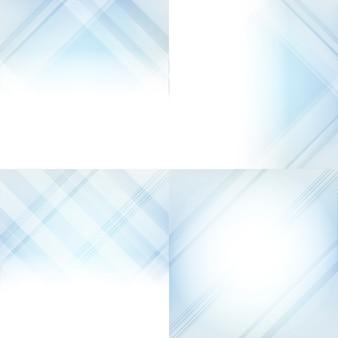 青と白のグラデーションの抽象的な背景セット