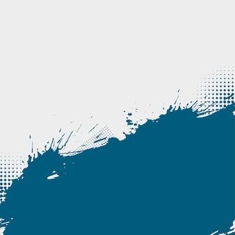 青と白のインクスプラッタグランジハーフトーンの背景