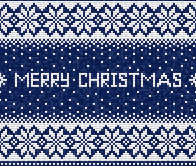 Синий и белый с рождеством христовым вязание бесшовный фон фон
