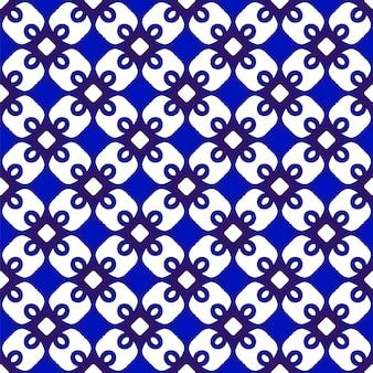 파란색과 흰색 원활한 패턴