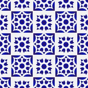 青と白のシームレス パターン