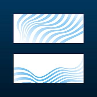 파란색과 흰색 줄무늬 추상 배너 벡터