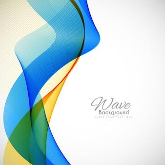 Абстрактный красочный современный фон волна