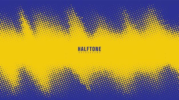 青と黄色のハーフトーンの背景