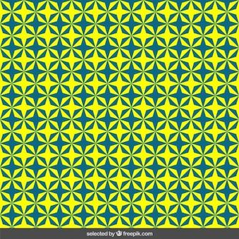 파란색과 노란색 별 패턴